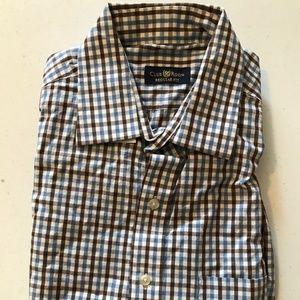 Club Room Plaid Regular Fit LongSleeve Dress Shirt